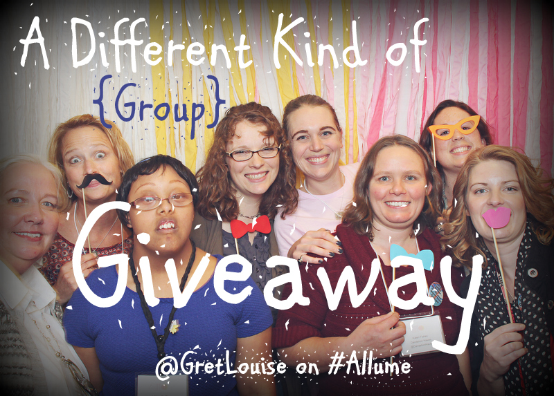 A Different Kind of {Group} Giveaway via @GretLouise on #Allume http://wp.me/p2VosB-1da