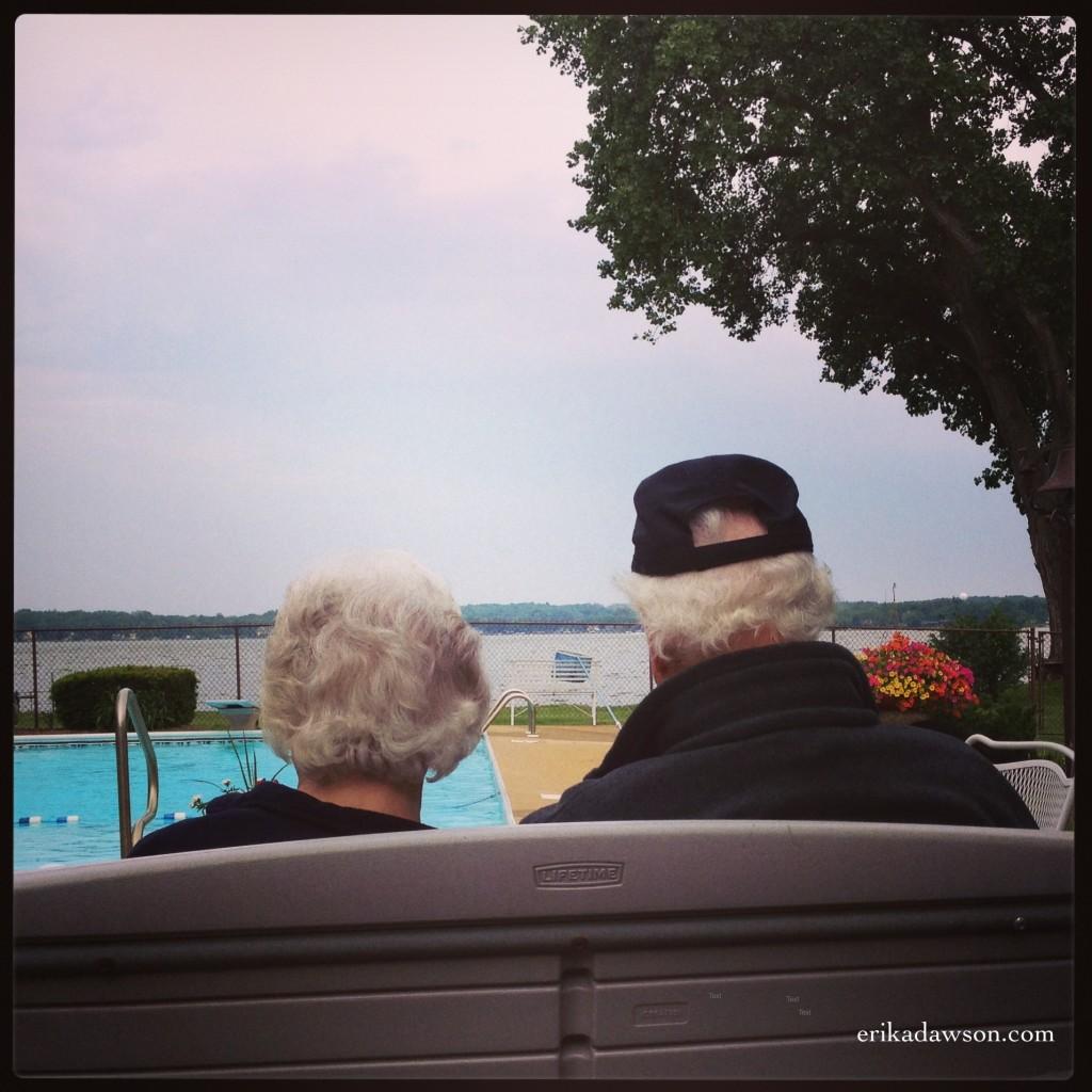 Dr. & Mrs. Sweeting sitting