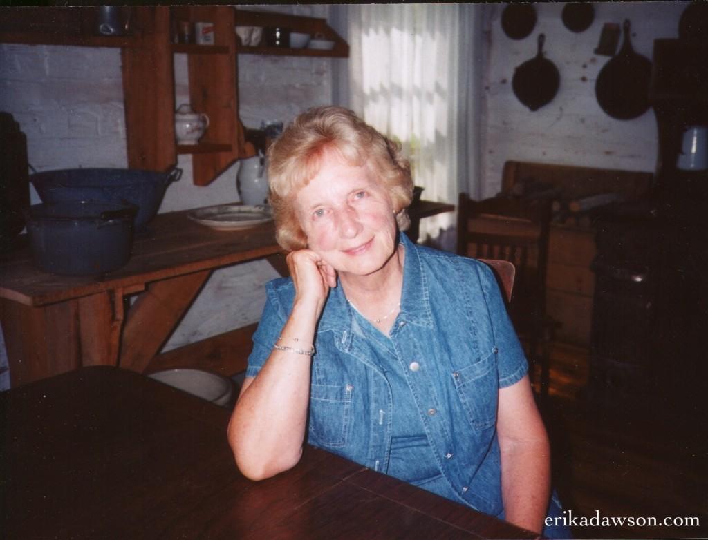 Grandma at table