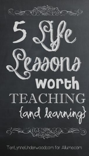 life lessons || Teri Lynne Underwood