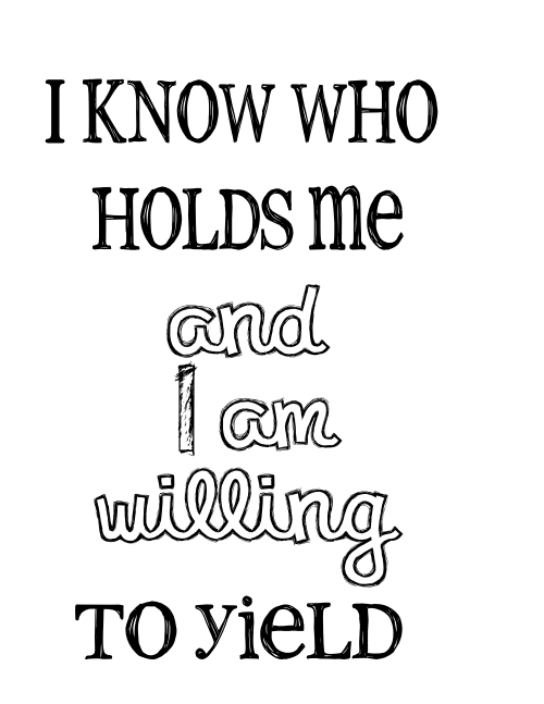 I know who holds me