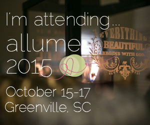 I'm attending Allume 2015