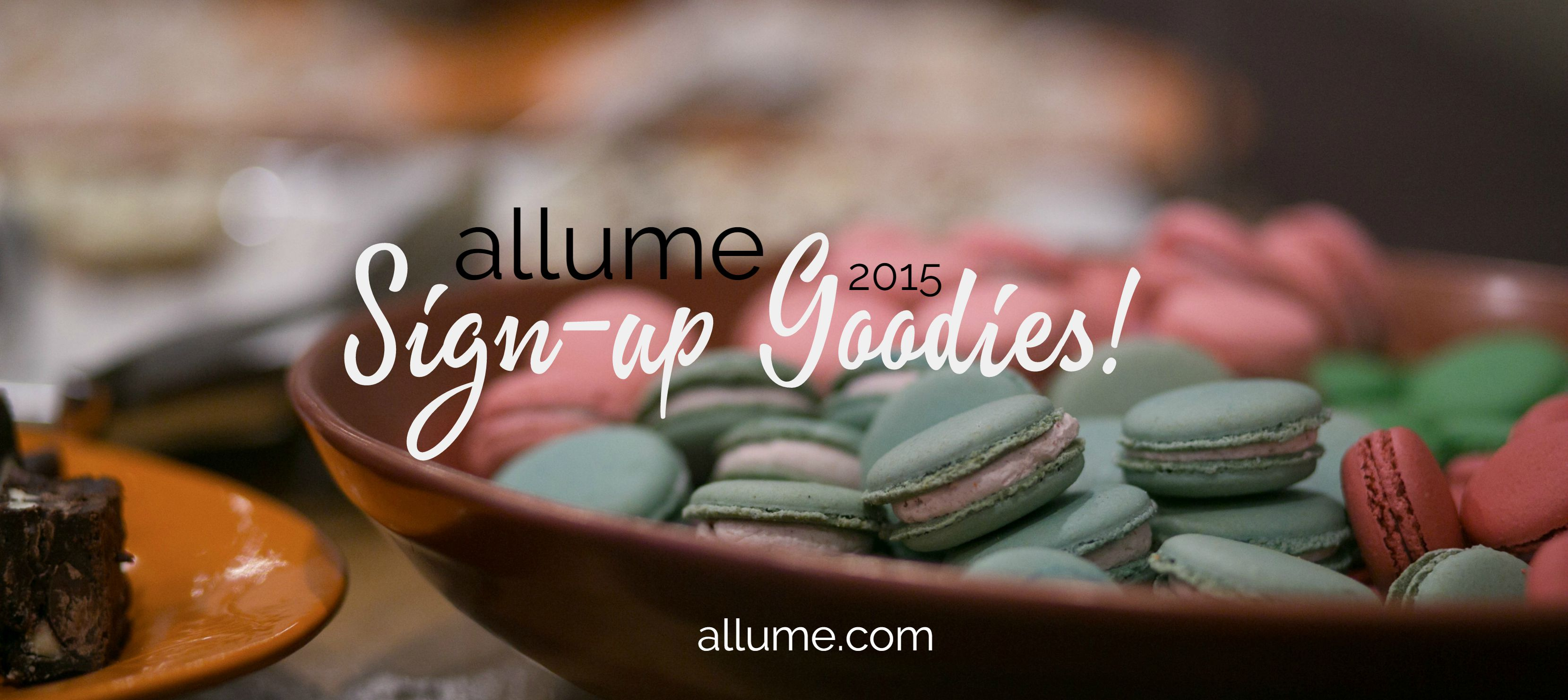 sign up goodies